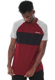 Camiseta Nicoboco Slim Plymou Vinho/Cinza
