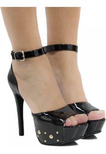 Sandália Zariff Shoes Salto Fino Preto