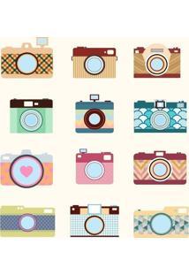 Papel De Parede Adesivo Câmeras Fotográficas (0,58M X 2,50M)