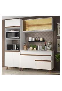 Cozinha Compacta Madesa Reims 190002 Com Armário E Balcão Branco Cor:Branco