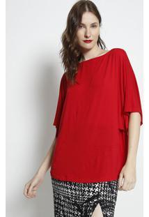 Blusa Lisa Com Recorte- Vermelha- Forumforum