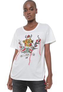 Camiseta Ellus 2Nd Floor Fine Once Branca