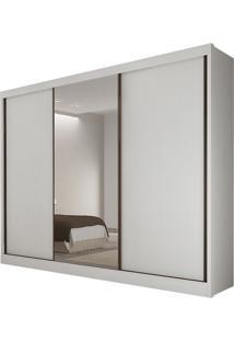 Guarda Roupa Diamond 3 Portas Com Espelho Branco