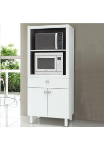 Armário De Cozinha Para Forno 2 Portas 1 Gaveta Bl3305 Branco - Tecno Mobili