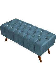 Puff Decorativo Triton 100Cm Veludo Brilho Azul - Perfan