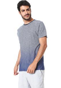 Camiseta Aramis Listras Com Degradê Azul-Marinho