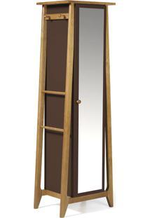 Armário Multiuso 1 Porta Stoka 981 Nogal/Marrom Escuro - Maxima