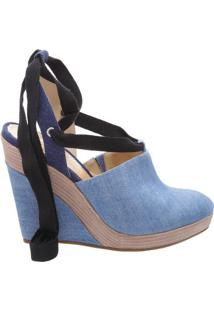 Espadrille Anabela Jeans- Azul Claro & Azul Marinho-Schutz