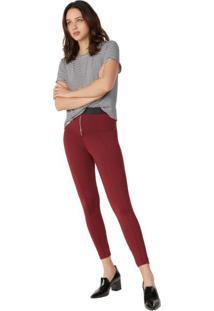 Calça Skinny Com Elástico E Zíper