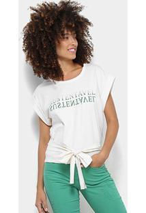 Blusa Colcci Estampada Feminina - Feminino-Branco