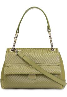 Bolsa Feminina Crossbody Smooth Snake - Verde