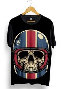 Camiseta Bsc Skull Royal Helmet Full Print - Masculino