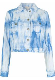 Michael Michael Kors Jaqueta Jeans Tie Dye - Azul