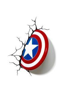 Luminária De Parede - 3D - Disney - Marvel - Avengers - Capitão América - Beek Geeks