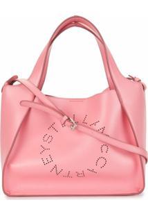 Stella Mccartney Bolsa Transversal Com Logo Stella - Rosa