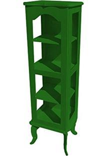 Cristaleira Colonial 1 Porta Atz122 - Verde