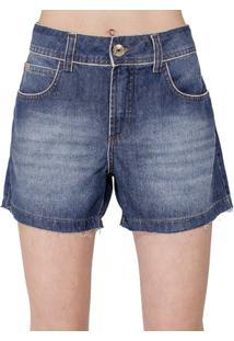 Bermuda Jeans Daria Colcci Feminino - Feminino-Azul