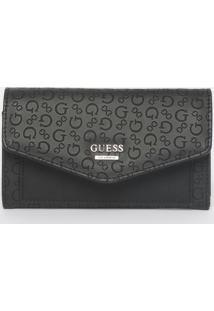 Carteira Gleeson Slg Slim Clutch - Preta - 10X17,5X2Guess