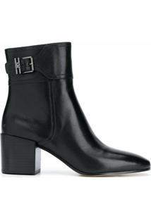 Michael Michael Kors Ankle Boot Com Salto Bloco - Preto