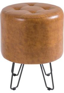 Puff Bastone Pu Caramelo Shine 55 Cm (Alt) - 40495 - Sun House