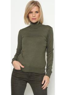 Blusa Lisa Em Tricã´ - Verde Militarcalvin Klein