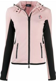Moncler Grenoble Jaqueta Slim Color Block - Rosa