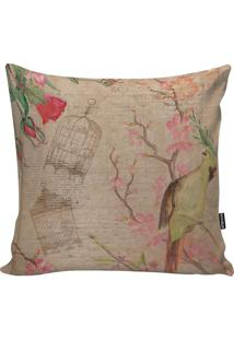 Capa Para Almofada Cages And Flowers- Cru & Rosa- 45Stm Home