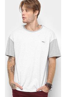 Camiseta Bicolor Cavalera Masculina - Masculino-Mescla