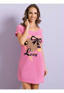 ... Camisola Com Decote Redondo Rosa Christian Gray 3cb4aa06c80