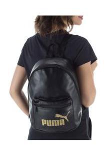 Mochila Puma Core Up Archive - Preto/Ouro