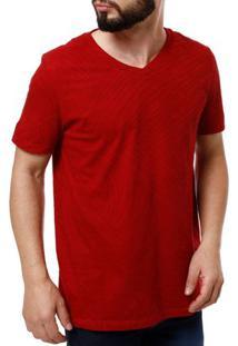 Camiseta Manga Curta Masculina Fido Dido Vermelho