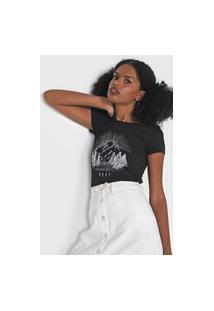 Camiseta Roxy Alpine Dreans Preta