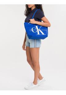 Bolsa Fem Ckj Canvas Utility - Azul Royal - U