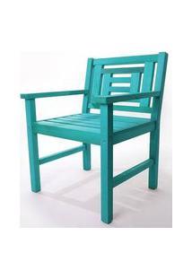 Poltrona De Madeira Echoes 1 Lugar Azul 61Cm - 61556 Azul