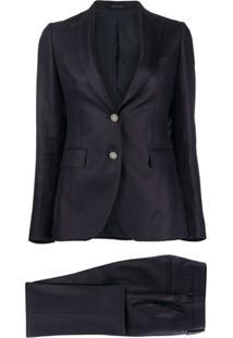 Tagliatore Jewelled Button Blazer - Azul