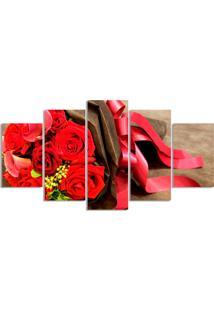 Quadro Decorativo Flor Rosa Buque Quarto Sala Casa - Vermelho - Dafiti