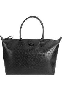 Bolsa Capodarte Shopper Monograma Feminina - Feminino-Preto