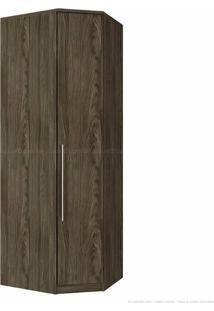 Guarda-Roupa Canto Obliquo 1 Porta Diamante M302 Sem Espelho Moka - Henn
