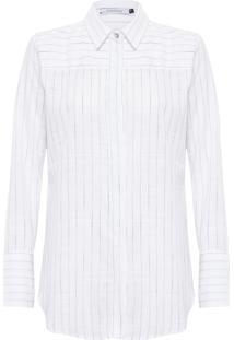 Camisa Feminina Listras - Branco