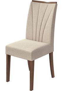 Cadeira Apogeu Linho Rinzai Bege Imbuia Naturale