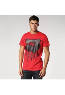 Camiseta Diesel T-Diego-Rd Masculina - Masculino-Vermelho