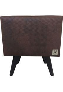 Puff Pã© Palito Quadrado Alce Couch Corano Courvin Marrom 40Cm - Marrom - Dafiti