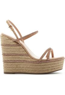 Sandália Anabela Natural Glam Neutral | Schutz