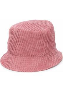 Isabel Marant Chapéu Bucket Canelado Com Logo Bordado - Rosa