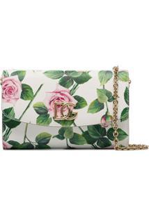Dolce & Gabbana Clutch De Couro Com Estampa Floral - Branco