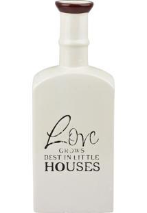 Vaso Love House Branco - Multicolorido - Dafiti