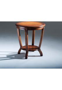 Mesa De Canto Inspiração Decorativa Madeira Maciça Design Clássico Avi Móveis