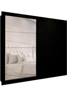 Guarda-Roupa Casal Com Espelho Helena 2 Pt 6 Gv Preto 242 Cm