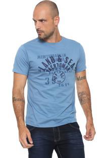 Camiseta Yachtsman Estampada Azul