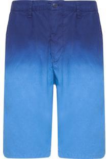 Bermuda Masculina Chino Degrade - Azul